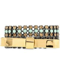 Marni - Double Bow Bracelet With Crystals - Lyst