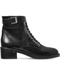 Laurence Dacade - 40mm Solene Leather Lace-up Boots - Lyst