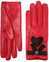 Gucci - Leather Gloves W/ Bow & Cat Detail - Lyst