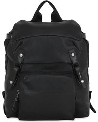 Lanvin - Tumbled Leather Backpack - Lyst