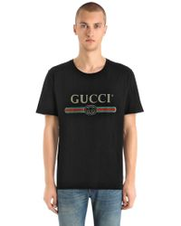 Gucci - T-shirt In Jersey Di Cotone - Lyst