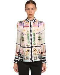 Mary Katrantzou Printed Silk Georgette Shirt