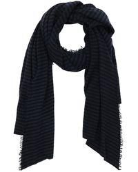 Faliero Sarti Striped Cashmere Scarf - Blue
