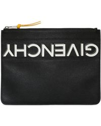 Givenchy - Busta In Pelle Con Logo - Lyst