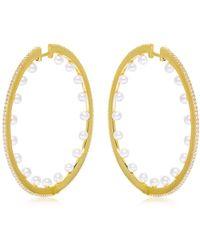 Apm Monaco - Pearls Hoop Earrings - Lyst