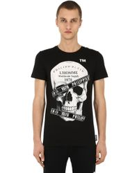 Philipp Plein - Printed & Embellished Cotton T-shirt - Lyst
