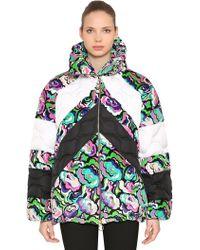 Emilio Pucci - Floral Print Nylon & Velvet Down Jacket - Lyst