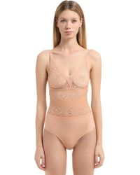 Stella McCartney Ophelia Whistling Lace Bodysuit - Natural