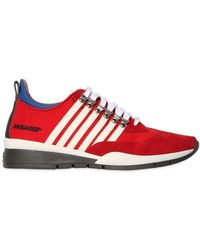 DSquared² | 251 Striped Nylon & Suede Trainers | Lyst