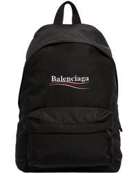 Balenciaga - Political Logo Nylon Backpack - Lyst