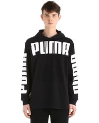Puma Select - Logo Hooded Cotton Blend Sweatshirt - Lyst