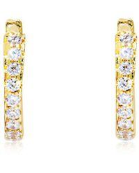 Apm Monaco - Gold Mini Hoop Earrings - Lyst