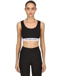 Burberry - Logo Lycra Cropped Top - Lyst