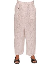 Incotex - Ines Floral Printed Silk Twill Pants - Lyst