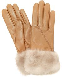 Mario Portolano - Leather Gloves W/ Mink Fur - Lyst