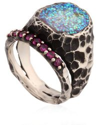 Voodoo Jewels - Sigillum Ring With Synthetic Rubies - Lyst