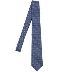 Z Zegna - Cravatta In Misto Seta 7cm - Lyst