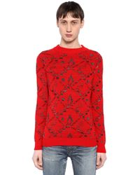 Saint Laurent - Knit Pattern Jumper - Lyst