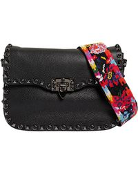 Valentino - Rockrolling Bag W/ Embroidered Strap - Lyst