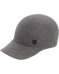 Maison Michel - Tiger Rabbit Fur Felt Baseball Hat - Lyst