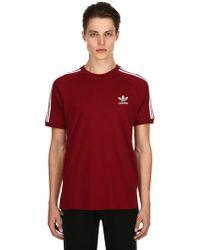 adidas Originals - Camiseta De Jersey De Algodón Con Rayas - Lyst