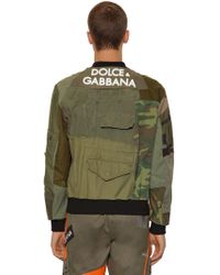 Dolce & Gabbana - Military Patchwork Jacket In Cotton - Lyst