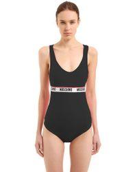 Moschino   Logo Band Stretch Lycra Bodysuit   Lyst