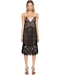 N°21 - Two Tone Animalier Lace Dress - Lyst