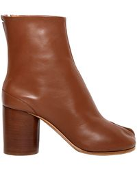 Maison Margiela - 80mm Tabi Leather Ankle Boots - Lyst