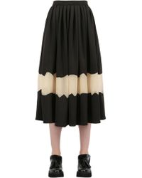 Natargeorgiou - Neoprene And Techno Chiffon Skirt - Lyst