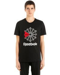 Reebok - Slim Fit Logo Cotton Jersey T-shirt - Lyst