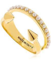 Vita Fede - Ultra Mini Titan Pearl Band Ring - Lyst