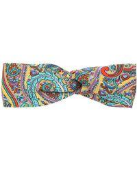 Etro - Printed Silk Elastic Headband - Lyst