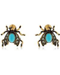 Alcozer & J - Rosalind & Viola Stud Earrings - Lyst
