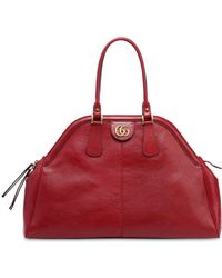 Gucci - Maxi Dome Leather Top Handle Bag - Lyst