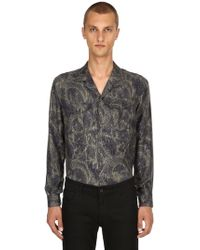 Etro - Paisley Printed Fluid Silk Pyjama Shirt - Lyst