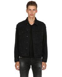 DIESEL - Distressed Cotton Denim Shirt Jacket - Lyst