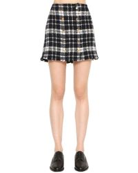 Thom Browne - Frayed Plaid Tweed Mini Skirt - Lyst
