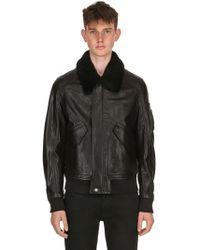 Belstaff - Arne Leather Aviator Jacket - Lyst