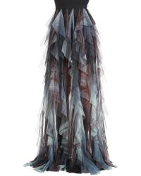 Elie Saab   Gonna In Tulle Con Ruches   Lyst