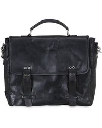 A.s.98 - Vintage Effect Leather Briefcase - Lyst