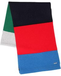 DSquared² - Striped Wool Knit Scarf - Lyst