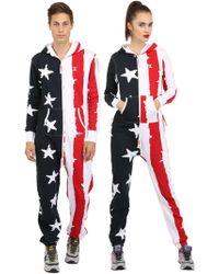 OnePiece - Cotton Blend Stars & Stripes Jumpsuit - Lyst