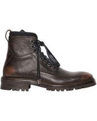 John Varvatos - 33mm Tumbled Vintage Leather Boots - Lyst