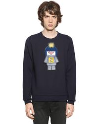 Fendi - Monster Patch Cotton Sweatshirt - Lyst