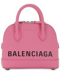 Balenciaga Xxs Ville Leather Top Handle Bag - Pink