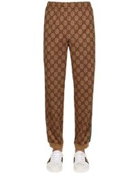 Gucci - Gg Supreme Logo Printed Sweatpants - Lyst