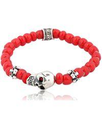 Cantini Mc Firenze - Skull Red Bracelet - Lyst