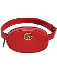 c94a5935dce5 Lyst - Gucci Gg Marmont 2.0 Velvet Belt Pack in Green