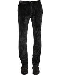 John Varvatos - Pantaloni Skinny In Velluto Di Cotone 17cm - Lyst